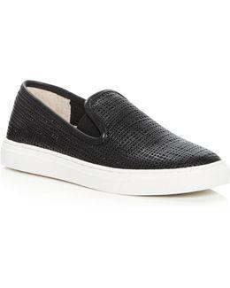 Becker Embossed Slip-on Sneakers