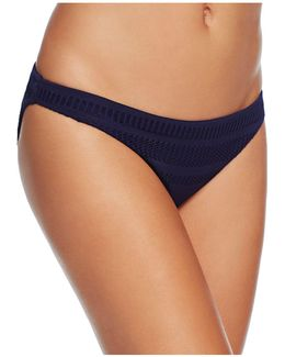 Crochet Stripe Classic Bikini Bottom