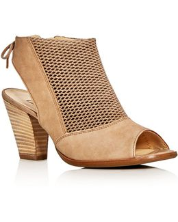 Lexi Perforated Open Toe Booties
