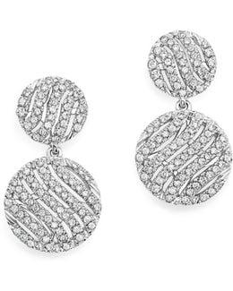 14k White Gold Jeb Diamond Drop Earrings