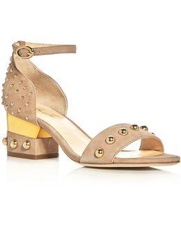 Margo Studded Block Heel Sandals