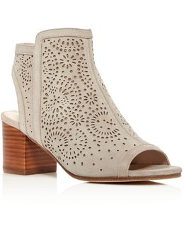 Jorie Perforated Open Toe Booties