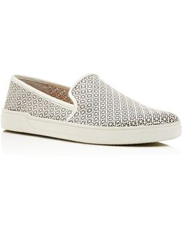 Gianna Perforated Slip-on Sneakers