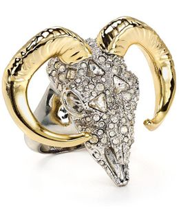 Crystal Ram Ring