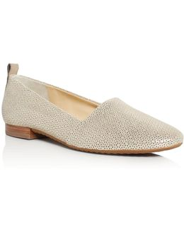 Lenny Metallic Perforated Flats