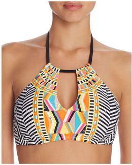 Brasilia High Neck Halter Bikini Top