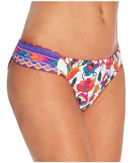 Antigua Siren Embroidery Print Bikini Bottom