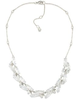 Marquee Cubic Zirconia Cluster Collar Necklace