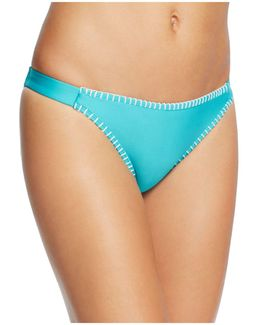 Whipstitch Side Tab Bikini Bottom