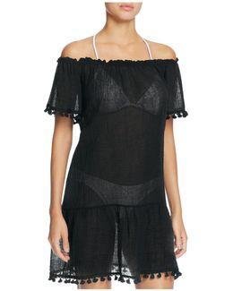 Sol Devon Off The Shoulder Dress Swim Cover-up