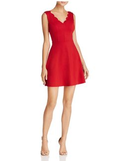 Scallop Fit-and-flare Dress