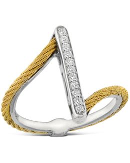 Diamond Yellow Cable Ring