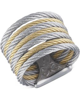 Two Tone Cable Ring