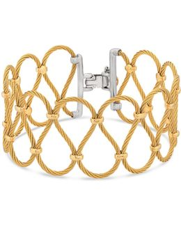 Two Tone Looped Cable Bracelet