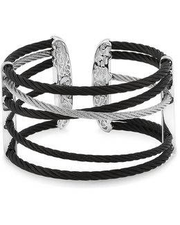 Black & Grey Cable Cuff