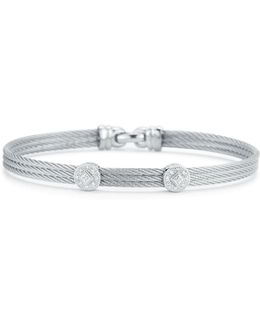 Diamond Gray Cable Bangle