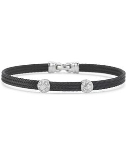 Diamond Black Bangle