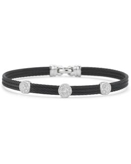 Diamond Black Cable Bangle