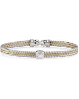 Diamond Stacked Cable Bangle