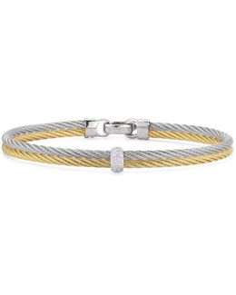 Gray & Yellow Stacked Cable Bangle