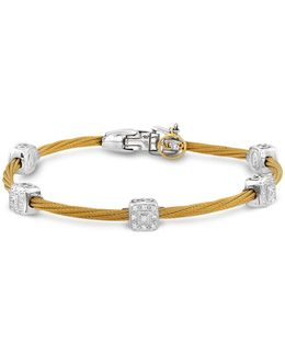 Diamond Stud Yellow Cable Bangle