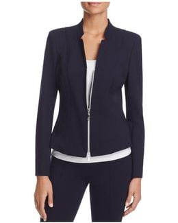 Fitted Notched Blazer