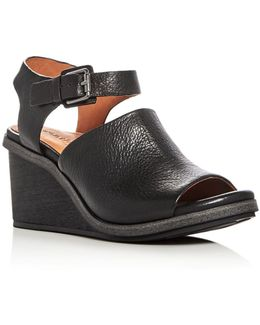 Gerry Leather Wedge Sandals