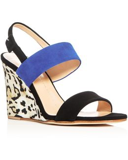 Kloe Strappy Slingback Wedge Sandals