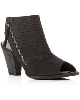 Alexandra Open Toe High Heel Booties