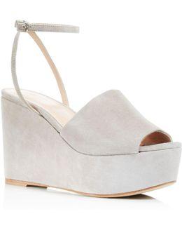 Patricia Platform Wedge Ankle Strap Sandals