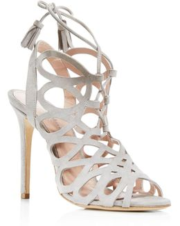 Priscilla Cutout Caged High Heel Sandals