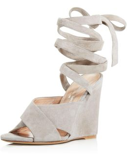 Quest Ankle Wrap Wedge Sandals