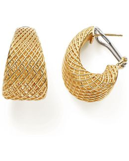 18k Yellow Gold Silk Dome Earrings