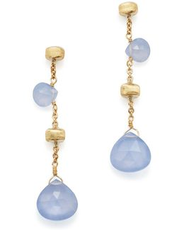 18k Yellow Gold Paradise Chalcedony Drop Earrings