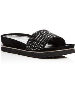Cava Embellished Platform Wedge Sandals
