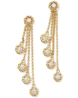 18k Yellow Gold New Barocco Diamond Drop Earrings