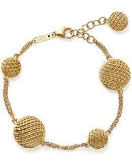 18k Yellow Gold Silk Bracelet