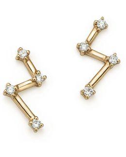 14k Yellow Gold Jemma Morgan Diamond Stud Earrings