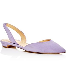 Tevelyn D'orsay Pointed Toe Flats