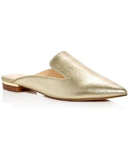 Tissa Metallic Pointed Toe Mules