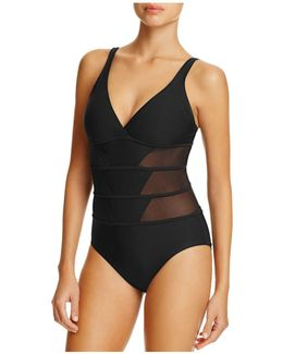 Tetons Mesh Inset Maillot One Piece Swimsuit