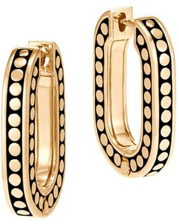 18k Yellow Gold Dot Small Link Earrings