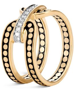 18k Yellow Gold Dot Diamond Ring