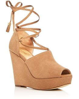 Hastings Lace Up Platform Wedge Sandals