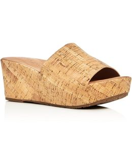 Forella Cork Platform Slide Sandals
