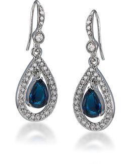 Pavé Teardrop Earrings