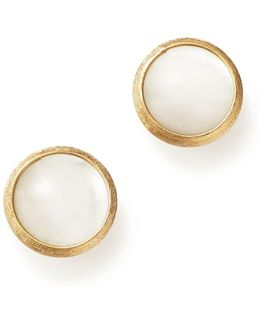18k Yellow Gold Jaipur Mother-of-pearl Stud Earrings