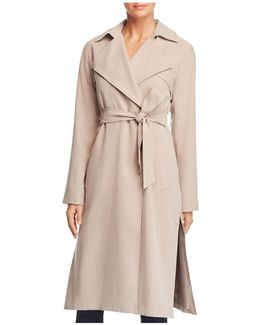 Player Button Front Trench Coat