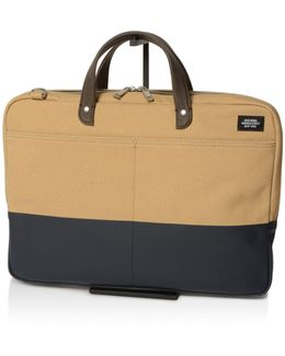 Dipped Slim Briefcase