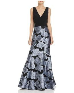 Jacquard-skirt Gown
